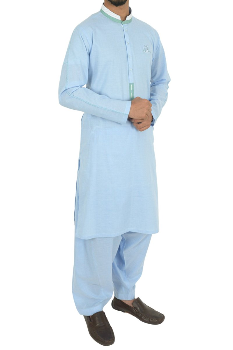 Light Blue Shalwar Qameez For Boys BQ-40594