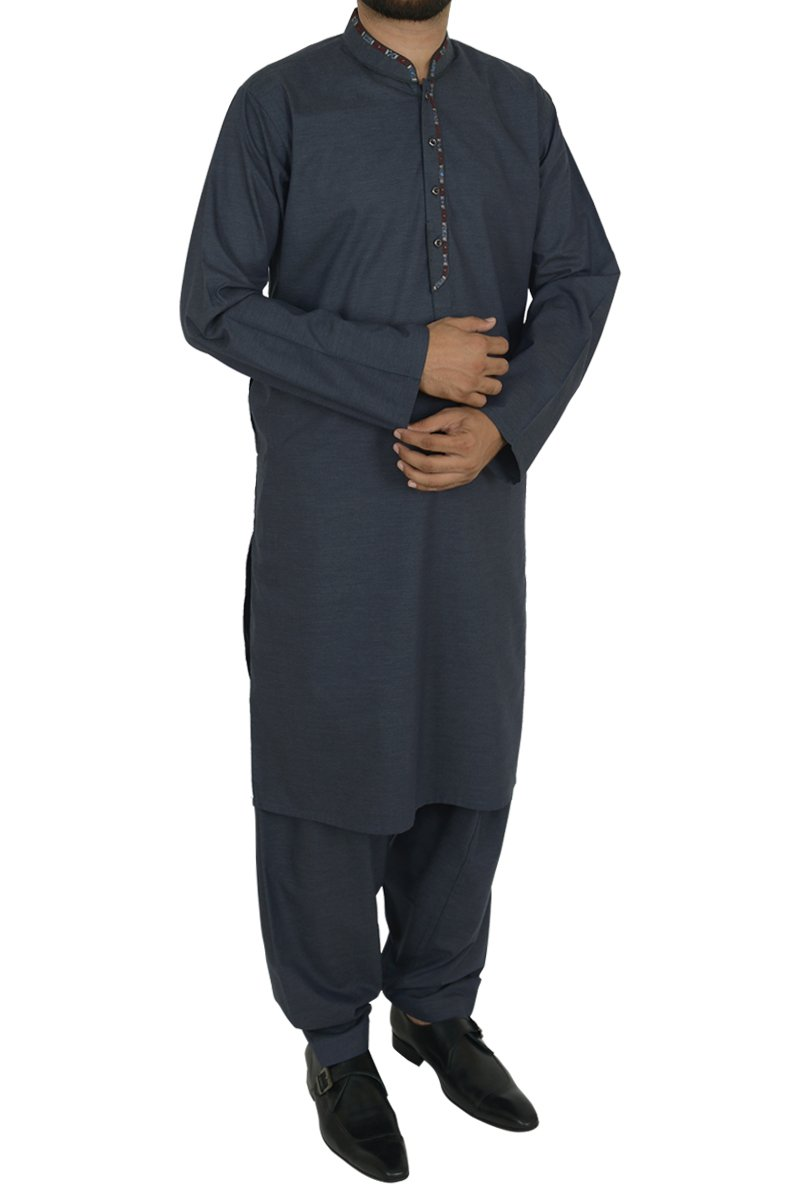 Image of   in Greyish Blue SKU: RQ-40207-XL-Greyish Blue