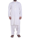 Image of Men Men Shalwar Qameez Off White Shalwar Qameez Suit. RQ-39123