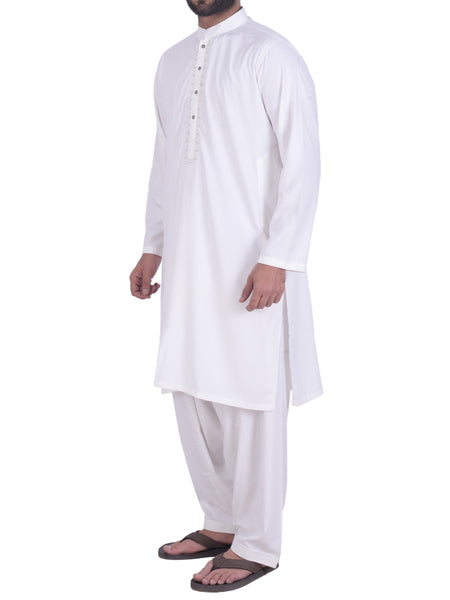 Off White Shalwar Qameez Suit. RQ-39123