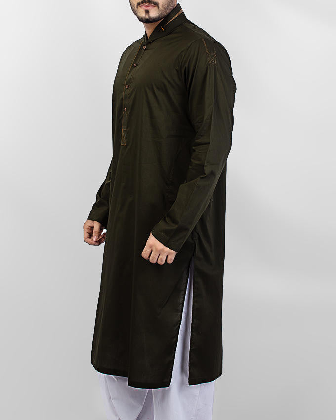 Image of Men Men Kurta in Original Green SKU: RK-15064-Small-Original Green