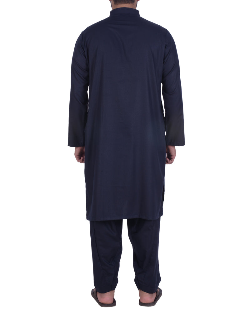 Dark Blue Shalwar Qameez Suit. RQ-39117