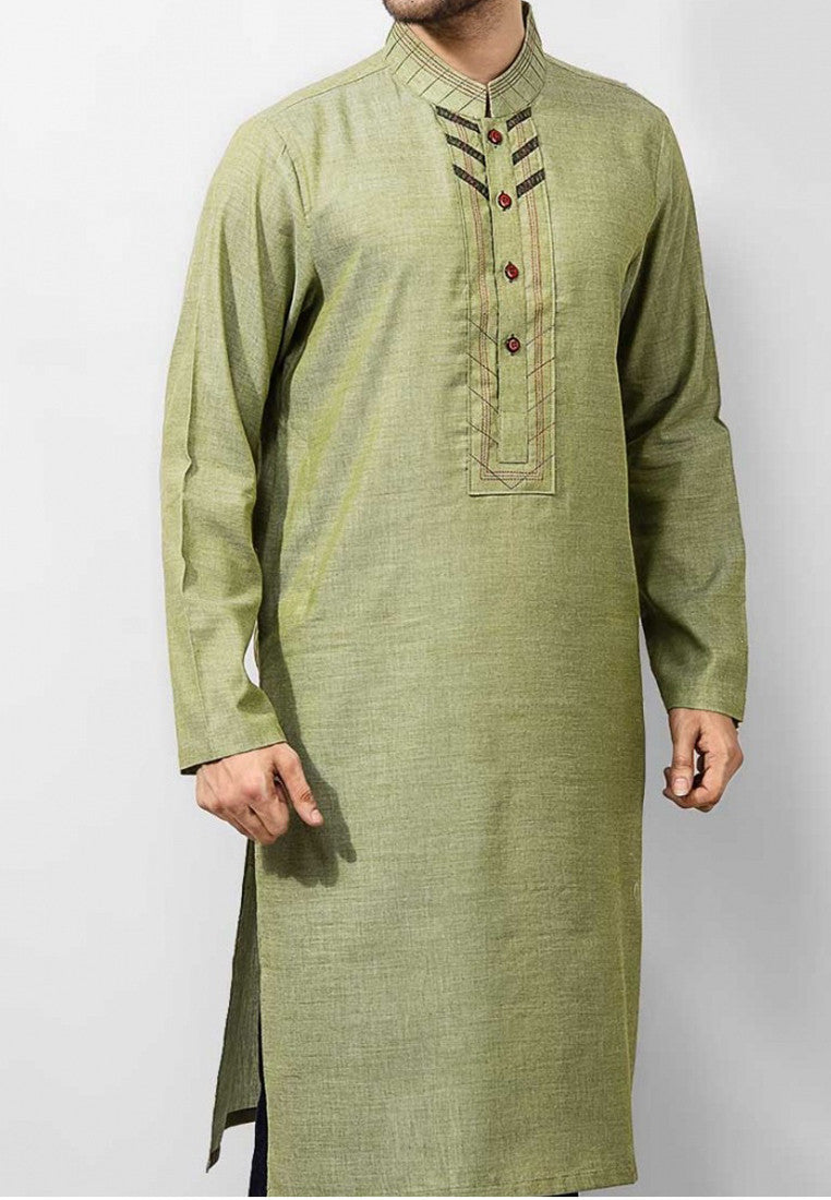 Image of Men Men Kurta in Pistachio Green SKU: RK-14127-Small-Pistachio Green