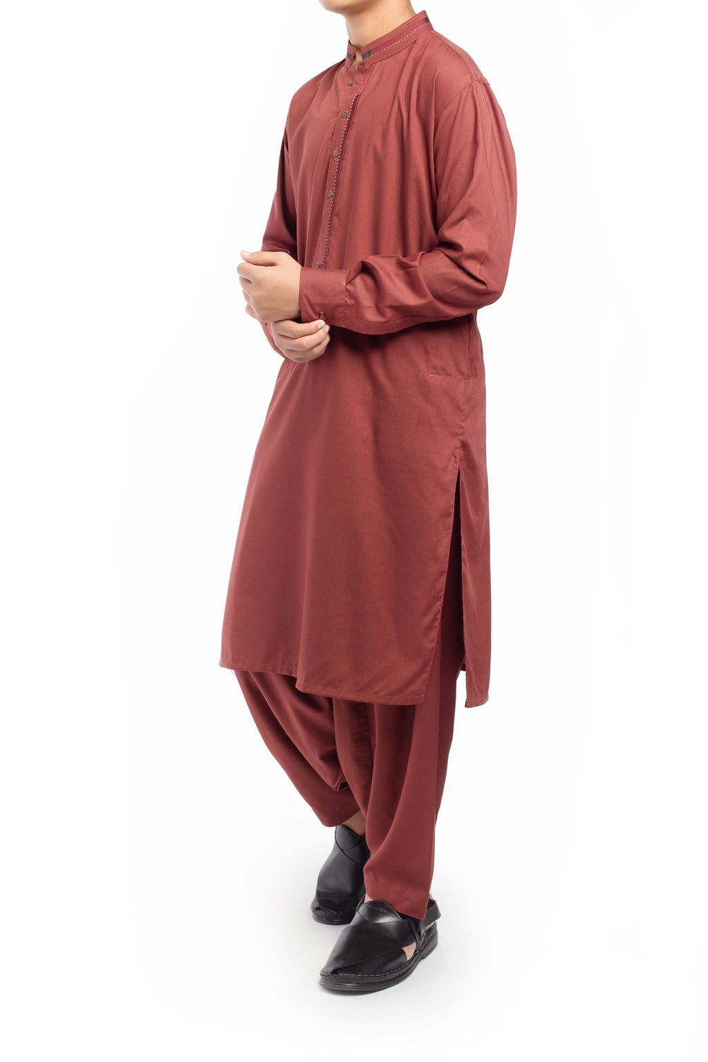 Brick Red Shalwar Qameez BQ-39514