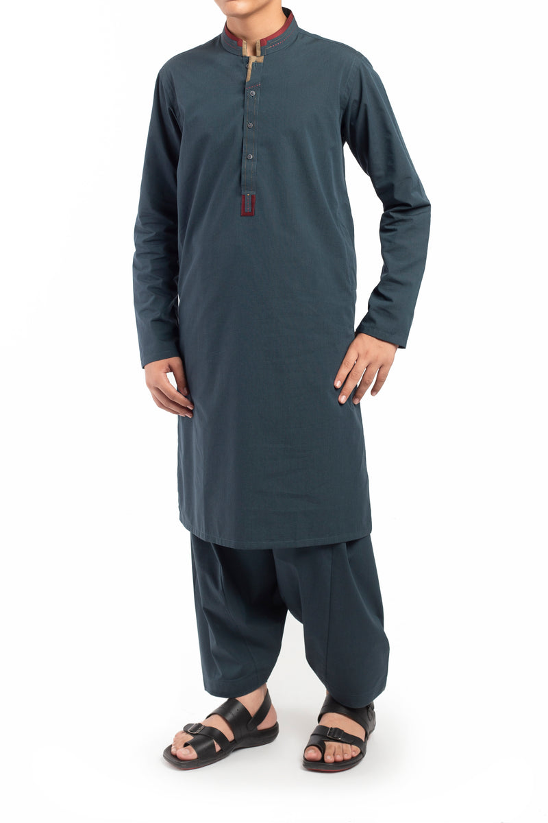 Bottle Green Shalwar Qameez BQ-39523