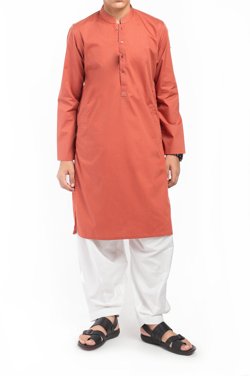 Dull Red Shalwar Qameez BSK-39607