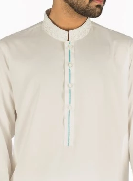 Off White Embroidered Shalwar Qameez RQ-16268