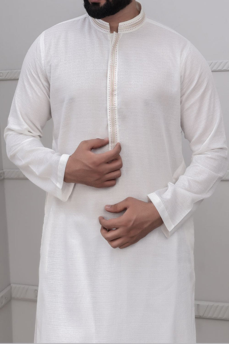 Off White Kurta for Men RK-40240