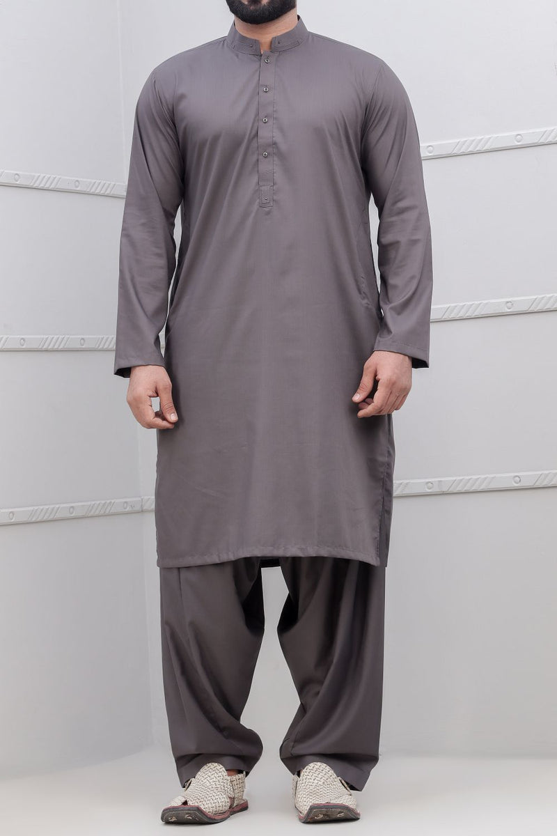 Cement Grey Shalwar Qameez for Men RQ-40310