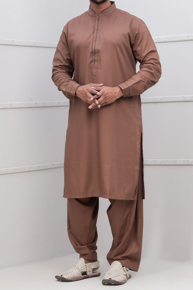 Ochre Shalwar Qameez for Men RQ-40317