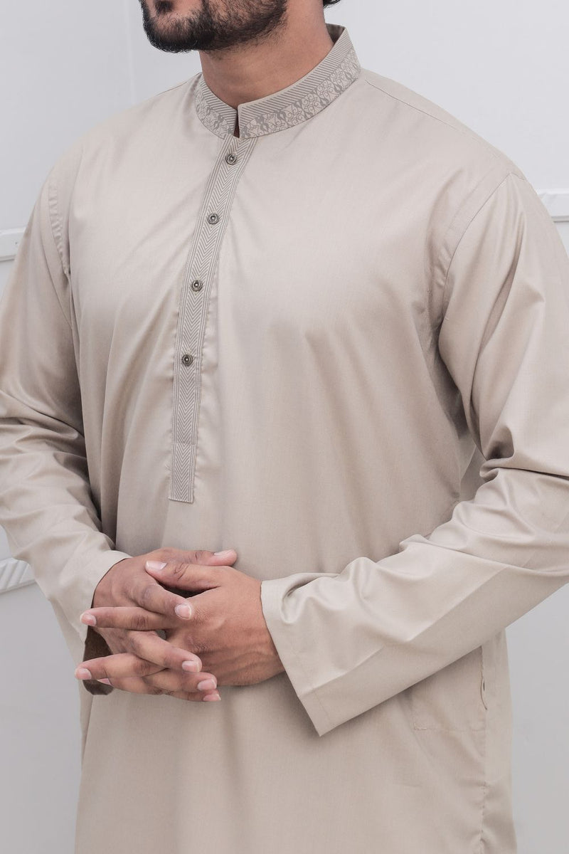 Fawn Shalwar Qameez for Men RQ-40226