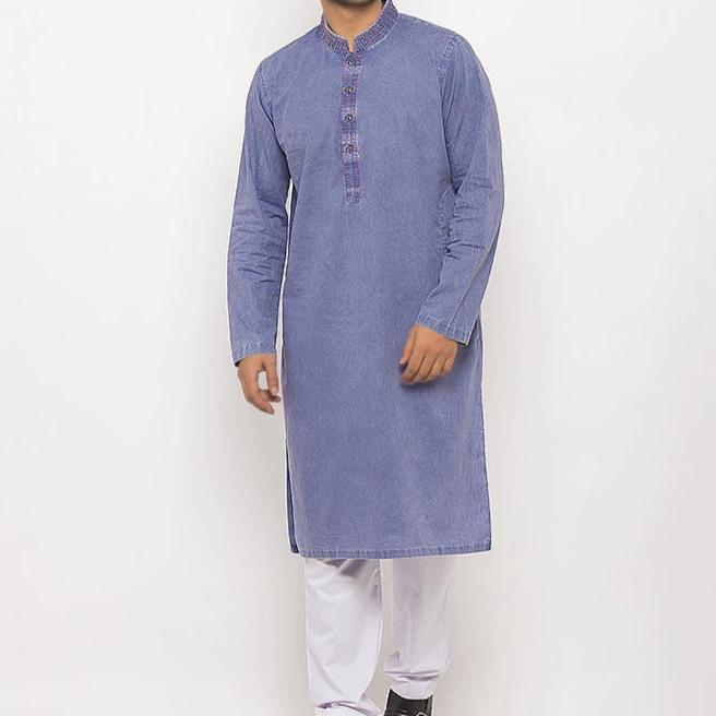 Denim Blue Kurta for Men RDK-15349