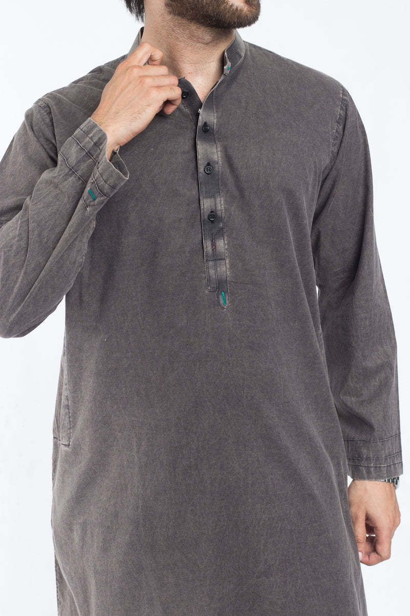 Image of Men Men Kurta in Mineral Black SKU: RDK-39168-Small-Mineral Black