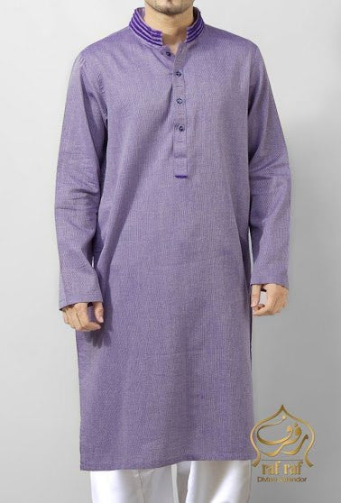 Image of Men Men Kurta in Purple SKU: RK-14111-Small-Purple