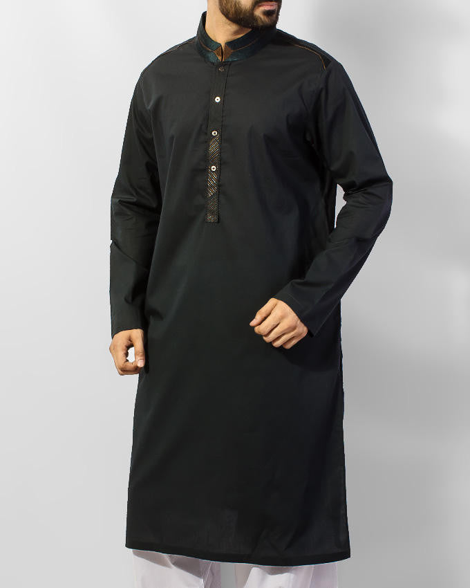 Image of Men Men Kurta in Dark Green SKU: RK-15047-Small-Dark Green