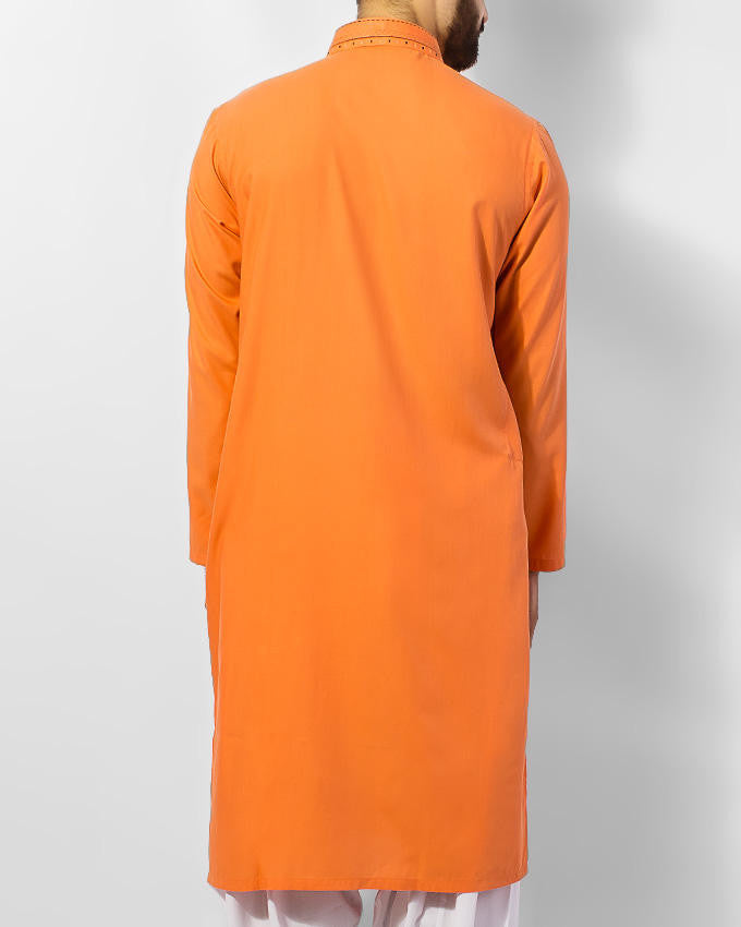 Image of Men Men Kurta in Orange SKU: RK-15054-Small-Orange