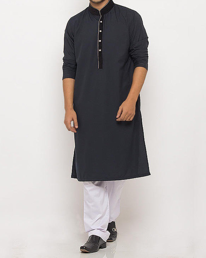 Image of Men Men Kurta in Dark Bottle Green SKU: RK-16103-Small-Dark Bottle Green