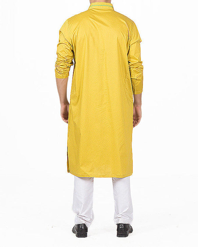 Image of Men Men Kurta in Morrocan Yellow SKU: RK-16141-Small-Morrocan Yellow