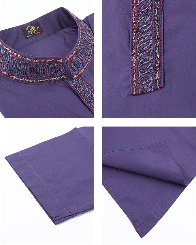 Image of Men Men Kurta in Voilet SKU: RK-16144-Small-Voilet