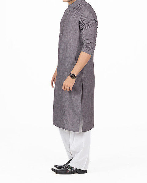 Silver Grey Kurta in Blended fabric with Slight Thread Work. Product Code RK-16146