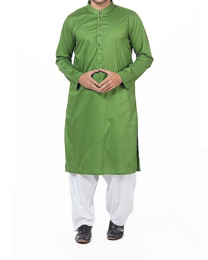 Image of Men Men Kurta in Emeralld Green SKU: RK-16168-Small-Emeralld Green