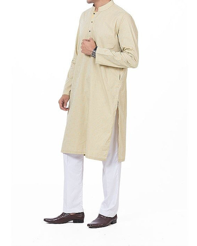 Cardamom Green colored plain Kurta in Jacquard woven. Fabric Product Code RK-16169