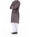 Image of Men Men Kurta in Charcoal Grey SKU: RK-16170-Small-Charcoal Grey