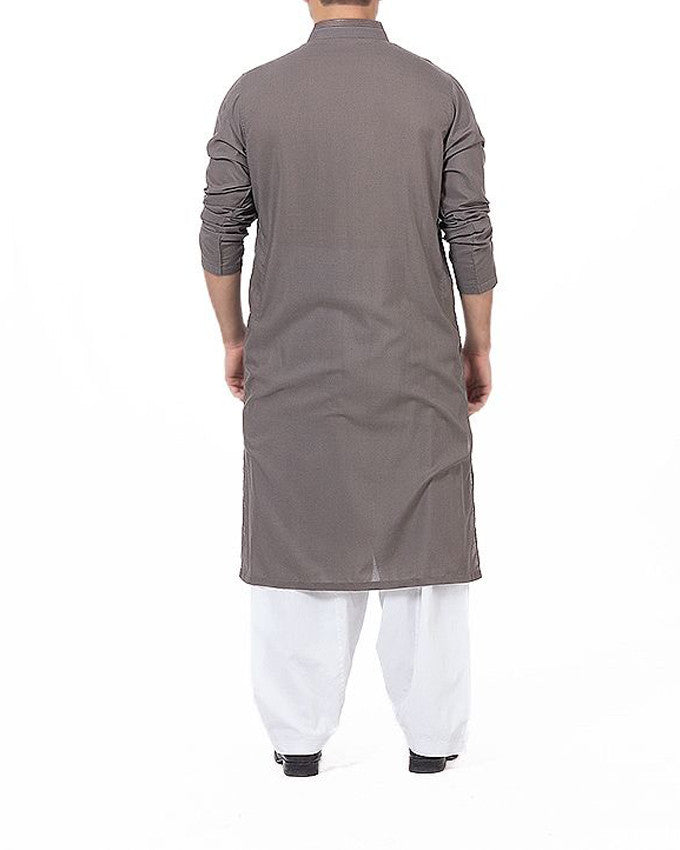 Image of Men Men Kurta in Pebble Grey SKU: RK-16176-Small-Pebble Grey