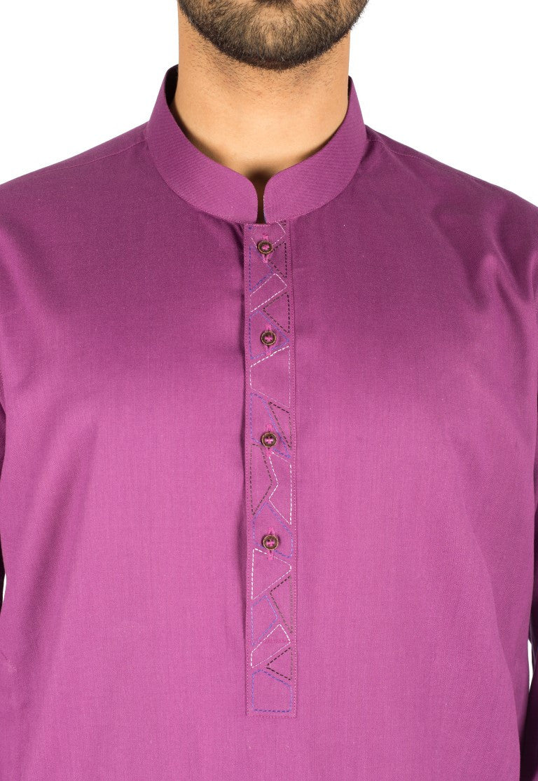 Image of Men Men Kurta in Violet SKU: RK-16246-Small-Violet