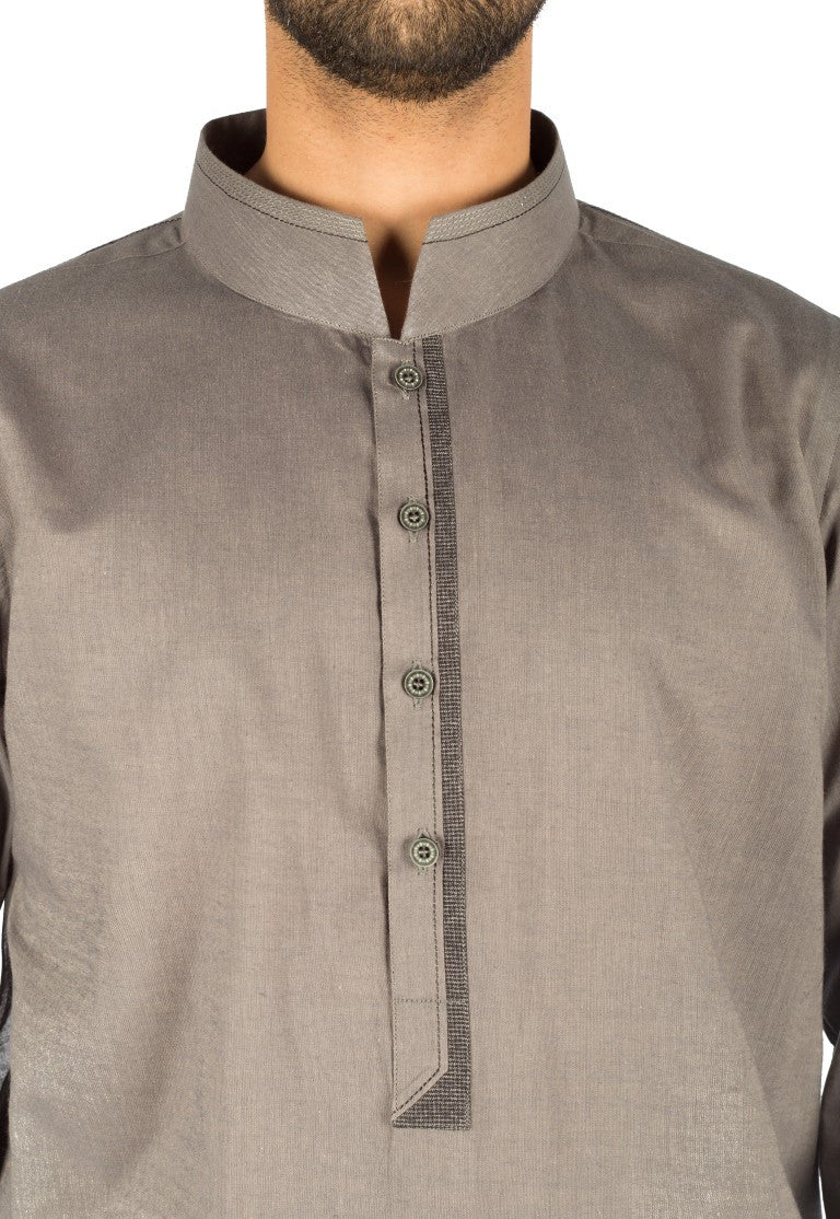 Slate Grey Cotton Kurta. Product Code. RK-16252