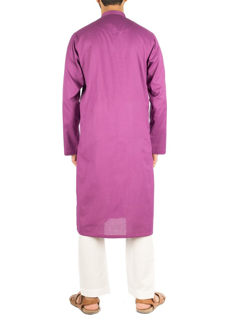 Image of Men Men Kurta in Purple SKU: RK-16253-Small-Purple