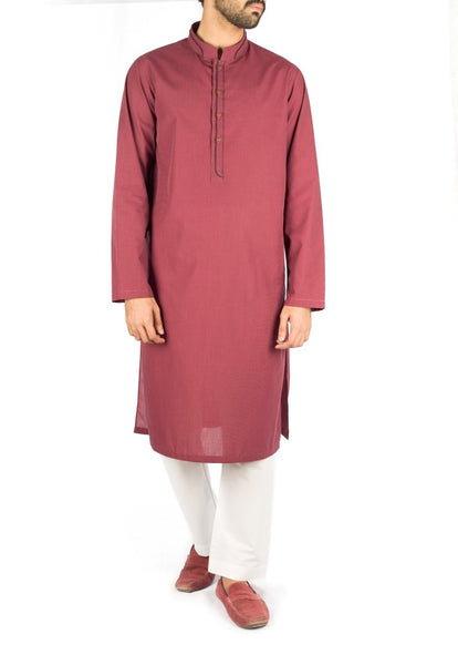 Image of Men Men Kurta Mulberry Kurta with Applique work. Product Code RK-16256