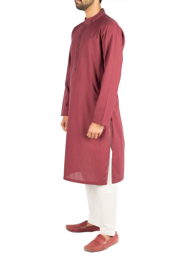 Image of Men Men Kurta in Mulbery SKU: RK-16256-Small-Mulbery
