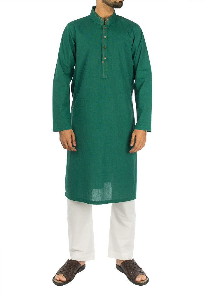 Image of Men Men Kurta Egyptian Green Kurta. RK-16275