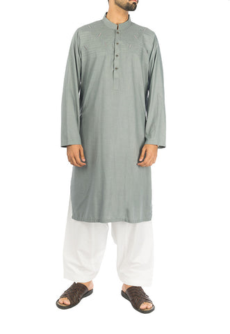 Ancient Grey Kurta in blended fabric. RK-16278