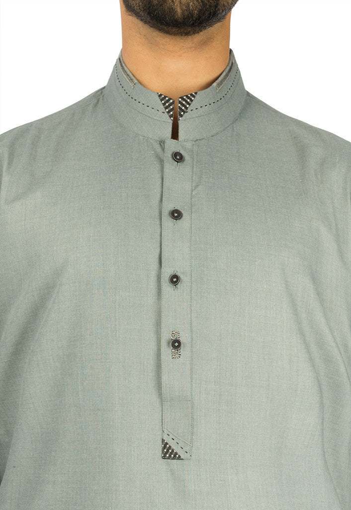 Image of Men Men Kurta in Roman Grey SKU: RK-16279-Small-Roman Grey