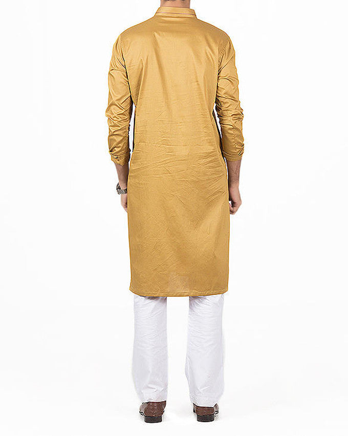Image of Men Men Kurta in Old Gold SKU: RK-16143-Small-Old Gold