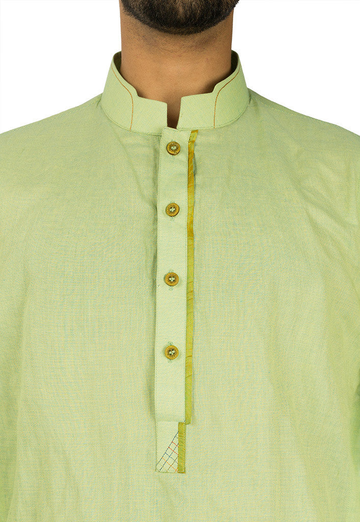 Image of Men Men Kurta in Lime Green SKU: RK-17105-Small-Lime Green