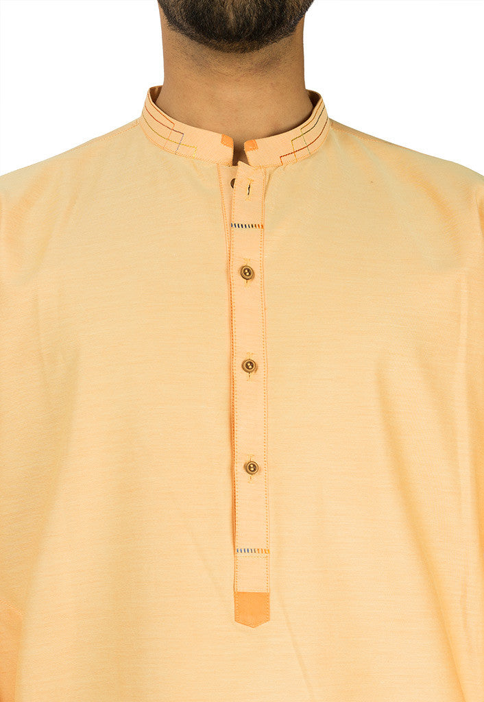 Apricot colored Kurta. RK-17119