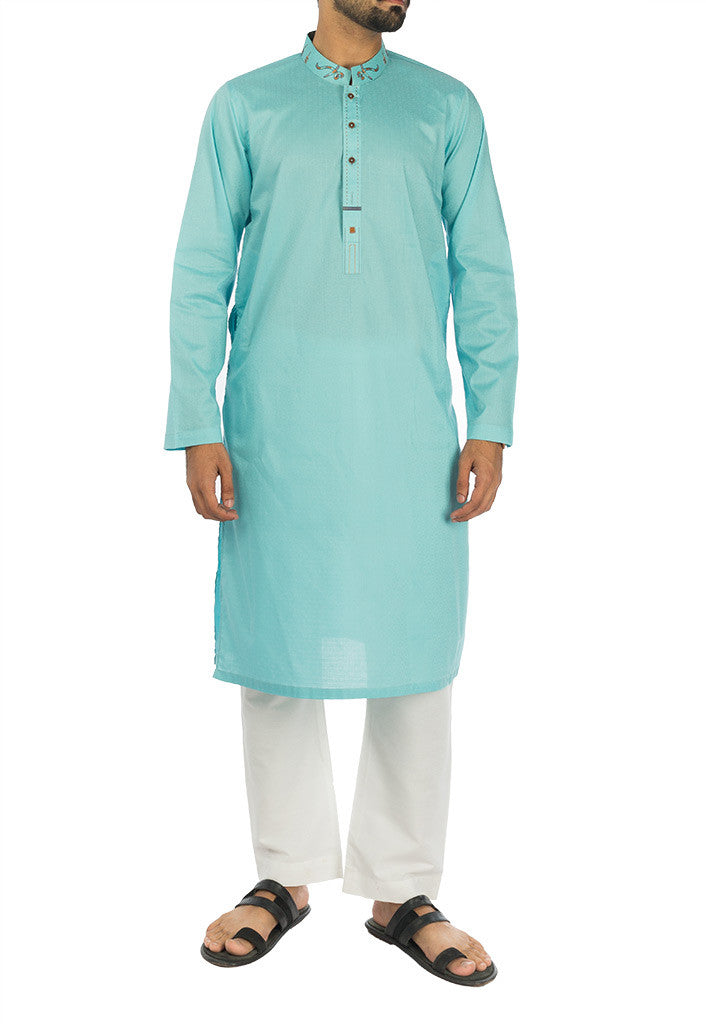 Image of Men Men Kurta Aqua colored Kurta. RK-17120