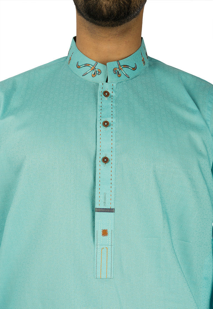 Image of Men Men Kurta in Aqua SKU: RK-17120-Small-Aqua