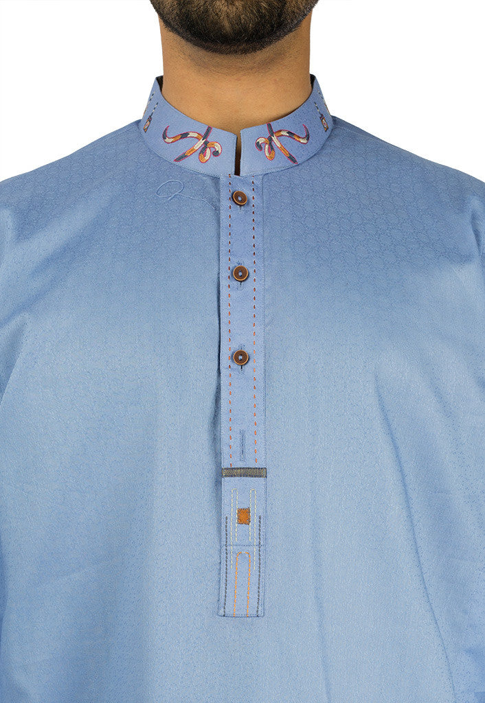 Image of Men Men Kurta in Royal Blue SKU: RK-17123-Small-Royal Blue