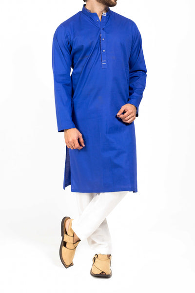 Blue High-end Cotton Kurta. RK-39161