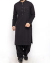 Image of Men Men Shalwar Qameez Black Cotton  Shalwar Qameez Suit with Stylish embroidery Details Product Code RQ-15305
