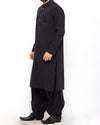 Black Cotton  Shalwar Qameez Suit with Stylish embroidery Details Product Code RQ-15305