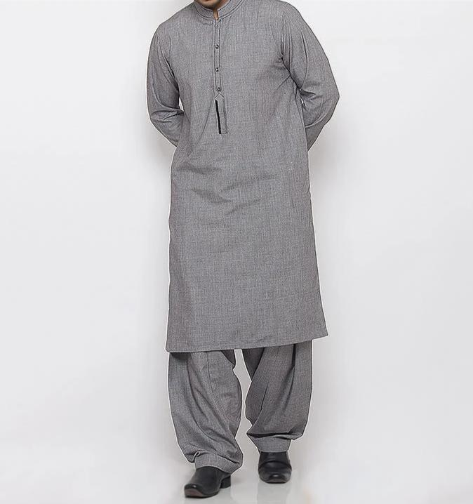 Silver Grey Shalwar Qameez For Men RQ-15333