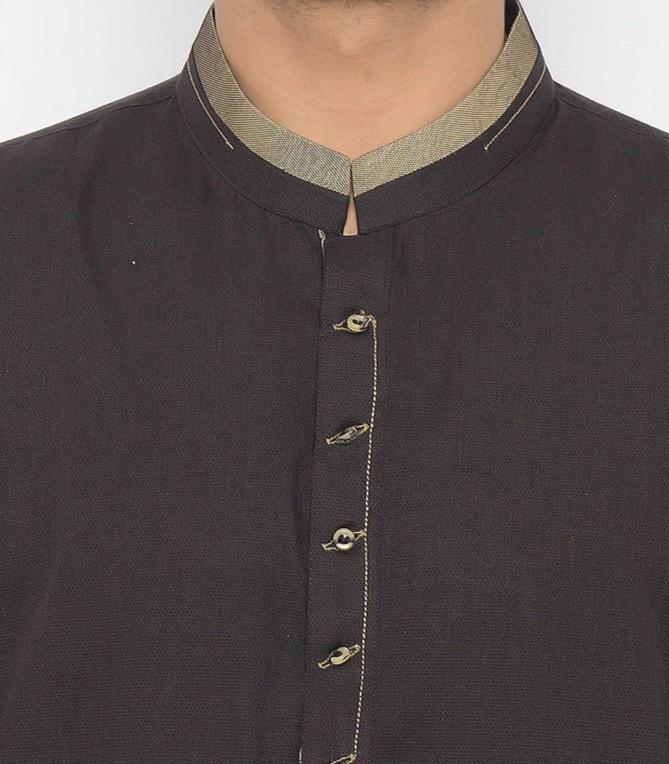 Blackish Green Shalwar Qameez For Men RQ-15340