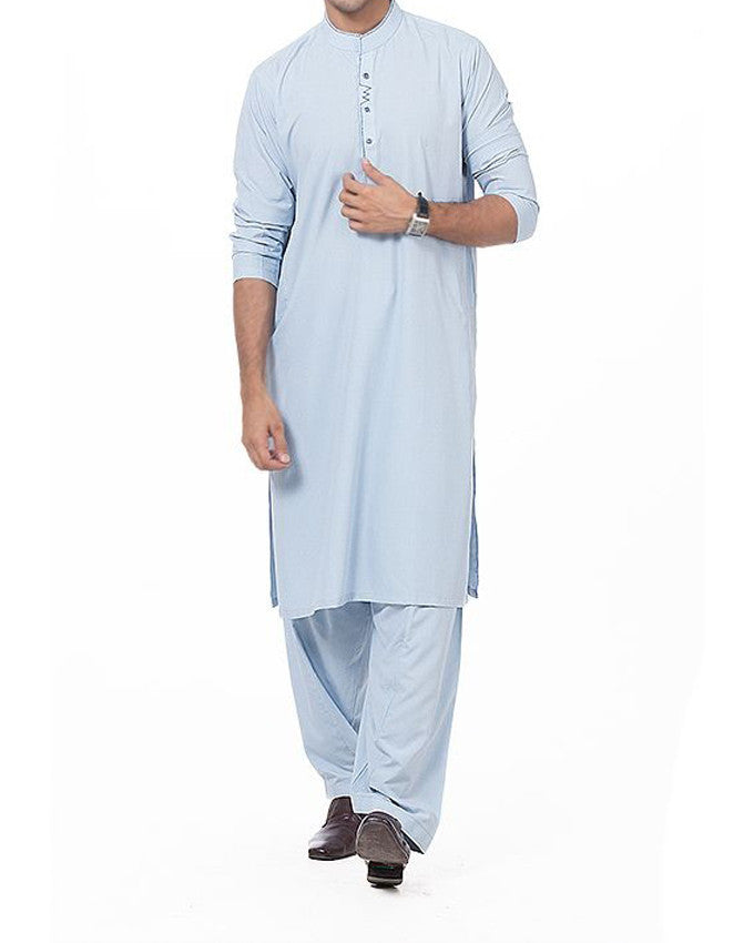 Image of Men Men Shalwar Qameez in Sky Blue SKU: RQ-16173-Small-Sky Blue