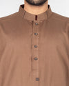Image of Men Men Shalwar Qameez in Raw Brown SKU: RQ-16211-Small-Raw Brown