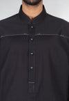 Image of Men Men Shalwar Qameez in Black SKU: RQ-16213-Small-Black